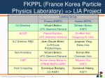 fkppl france korea particle physics laboratory lia project