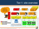 tier 1 site overview