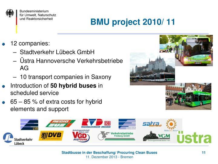 BMU project 2010/ 11