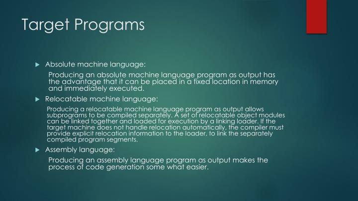 Target Programs