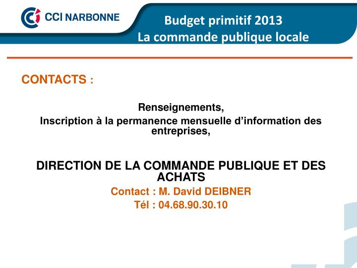 Budget primitif 2013