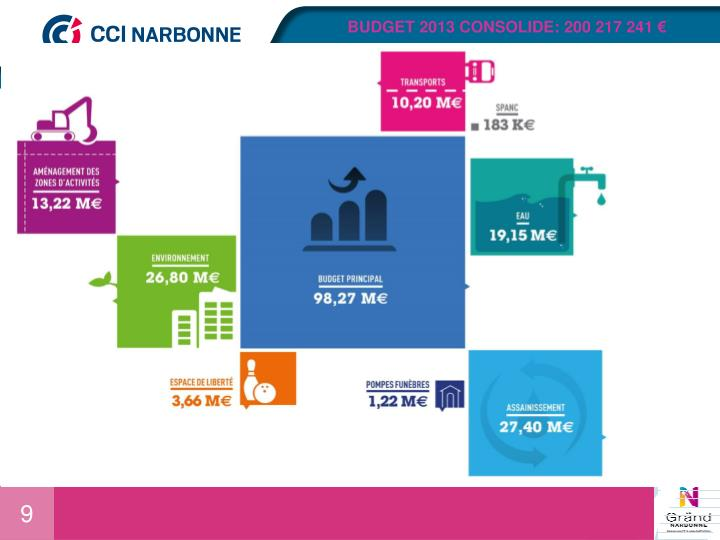 BUDGET 2013 CONSOLIDE: 200 217 241 €