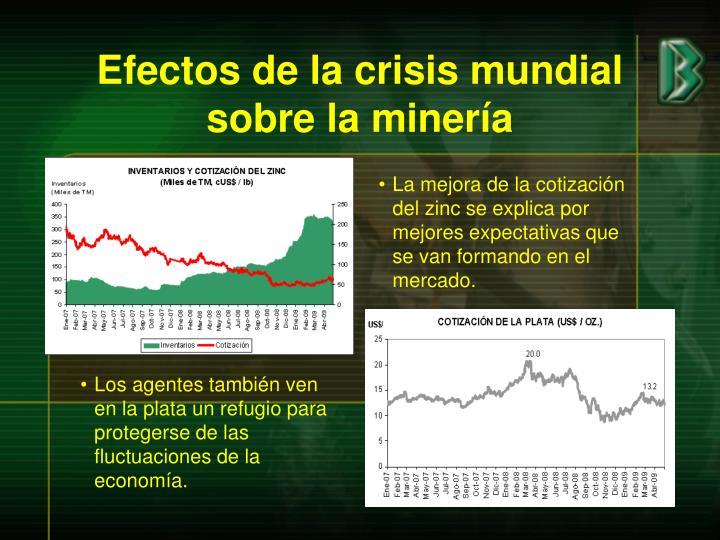 Efectos de la crisis mundial sobre la minería