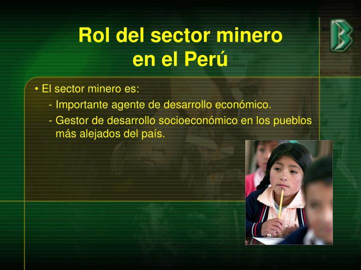 Rol del sector minero