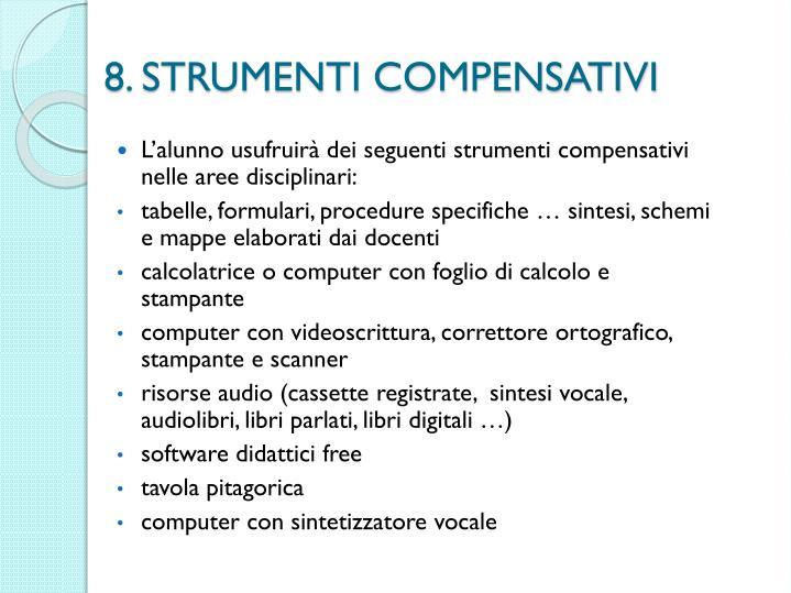8. STRUMENTI COMPENSATIVI