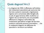 quale diagnosi art 3