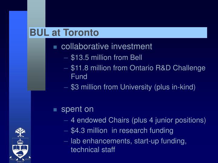 BUL at Toronto