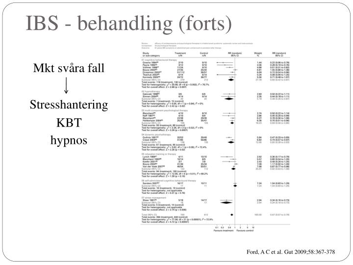 IBS - behandling (forts)