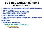 bvs regional bireme ejercicio 1
