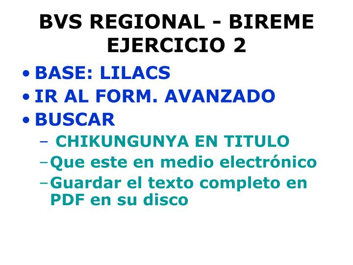 BVS REGIONAL - BIREME