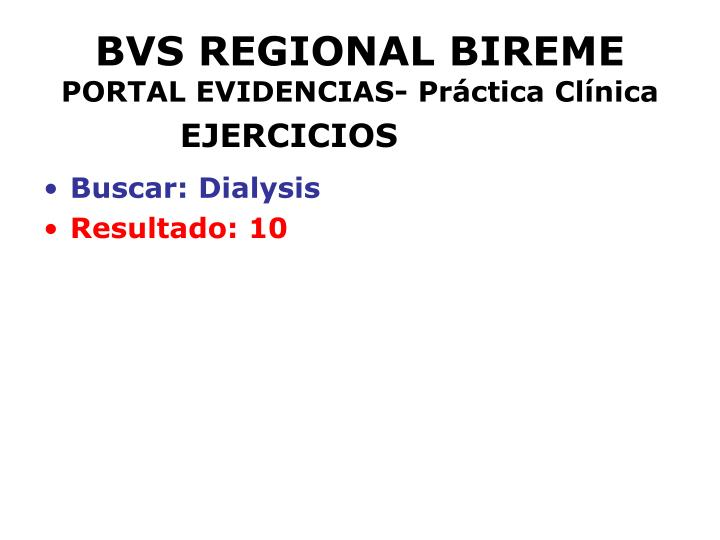 BVS REGIONAL BIREME