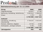 betriebsrechnung per 31 12 2006