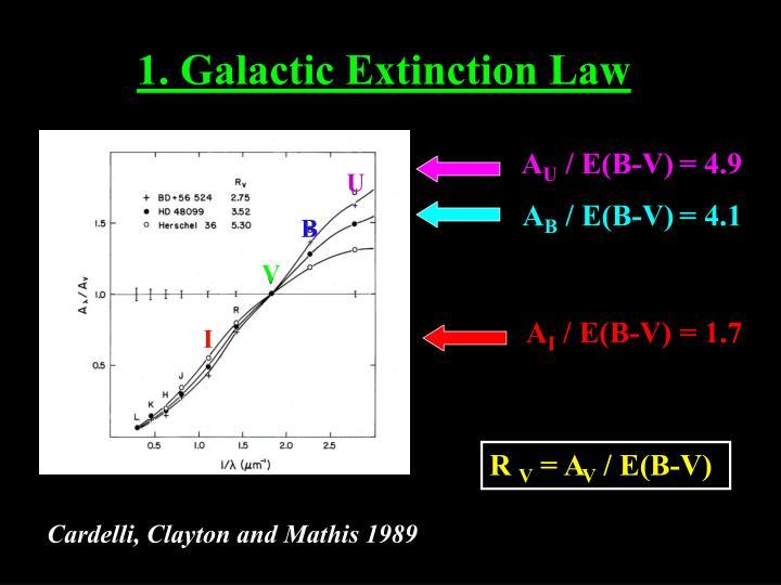 1. Galactic Extinction Law