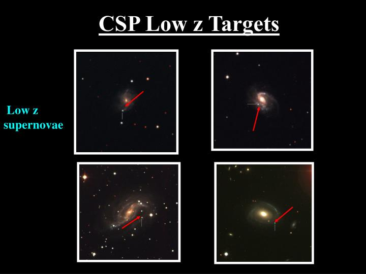 CSP Low z Targets