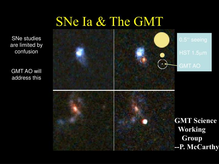 SNe Ia & The GMT