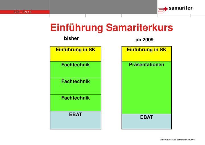 Einführung Samariterkurs