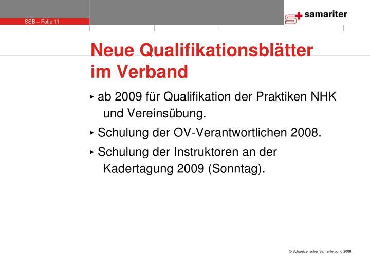 Neue Qualifikationsblätter