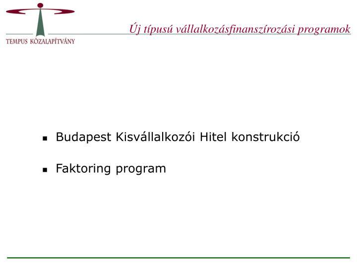 Új típusú vállalkozásfinanszírozási programok
