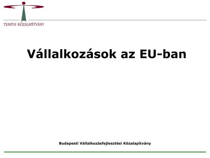 Vállalkozások az EU-ban