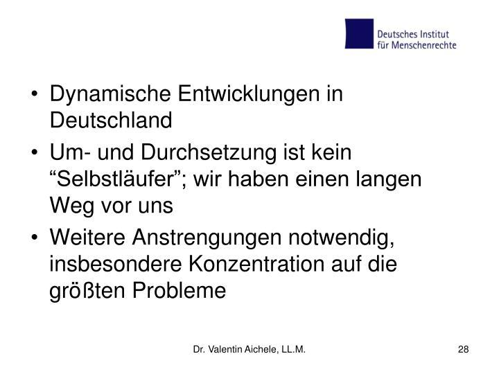Dynamische Entwicklungen in Deutschland