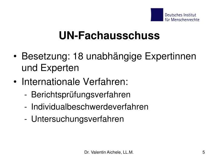 UN-Fachausschuss