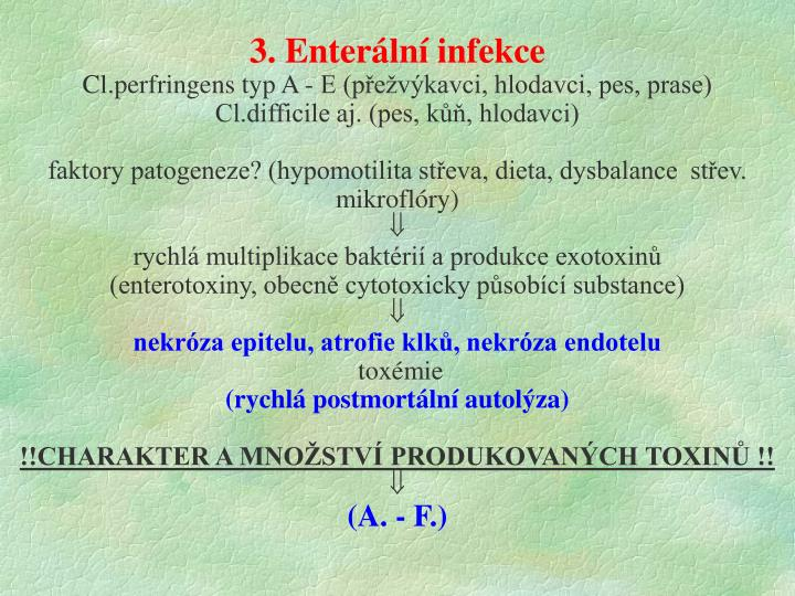 3. Enterální infekce