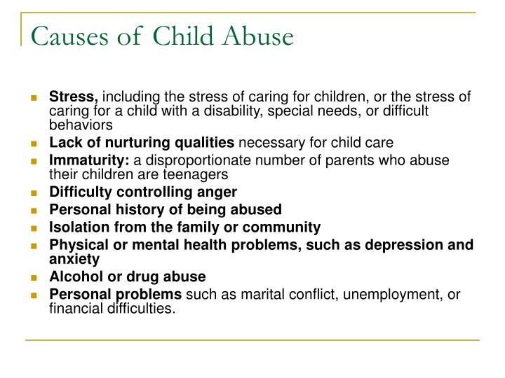 Causes of Child Abuse