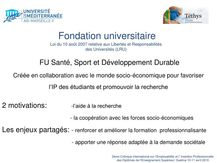 Fondation universitaire