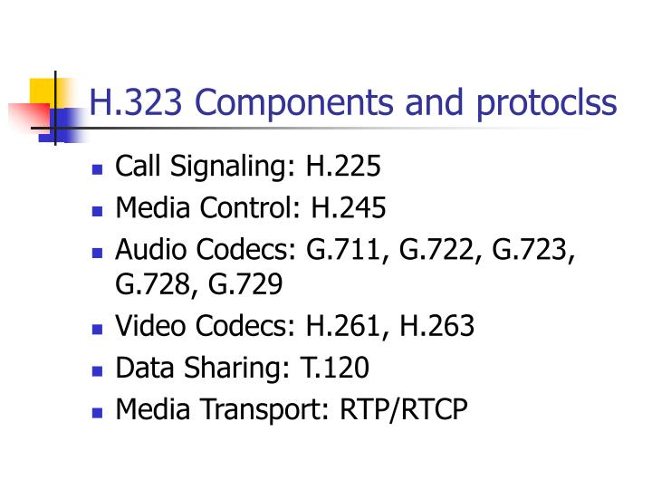 H.323 Components and protoclss