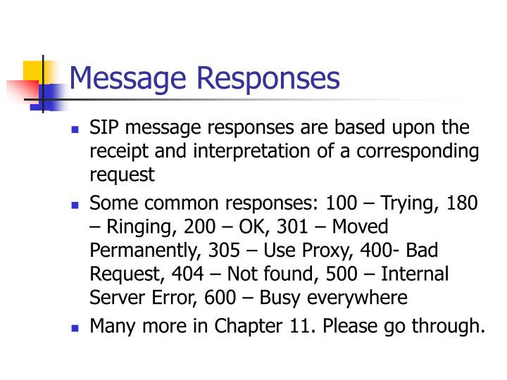 Message Responses