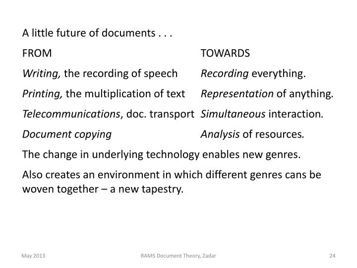 A little future of documents . . .