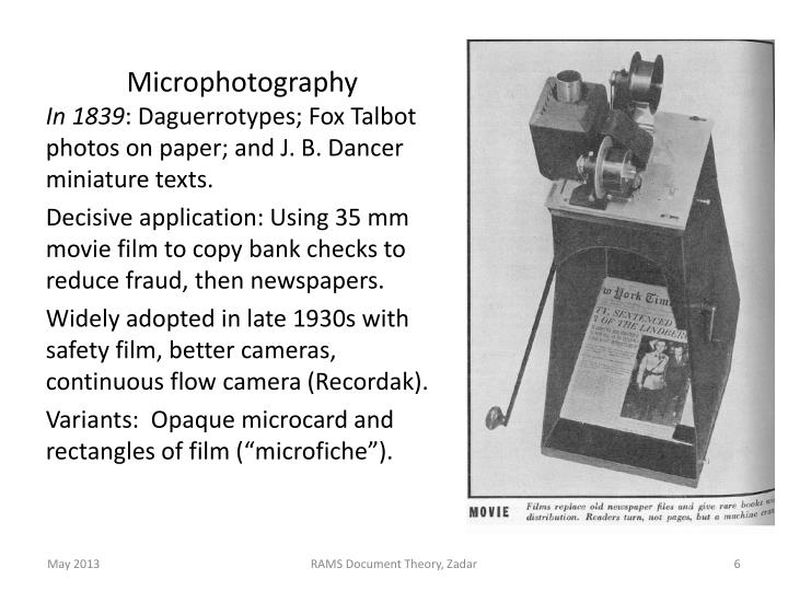 Microphotography