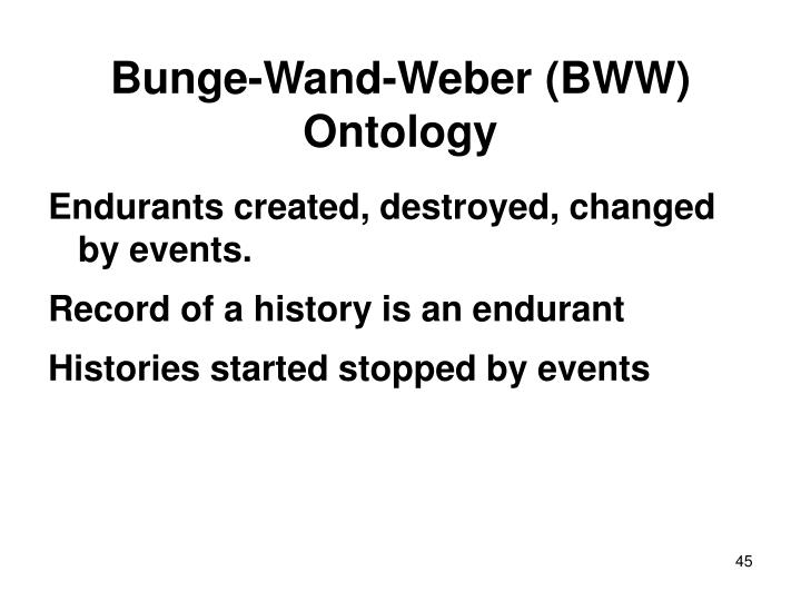 Bunge-Wand-Weber (BWW) Ontology