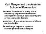 carl menger and the austrian school of economics