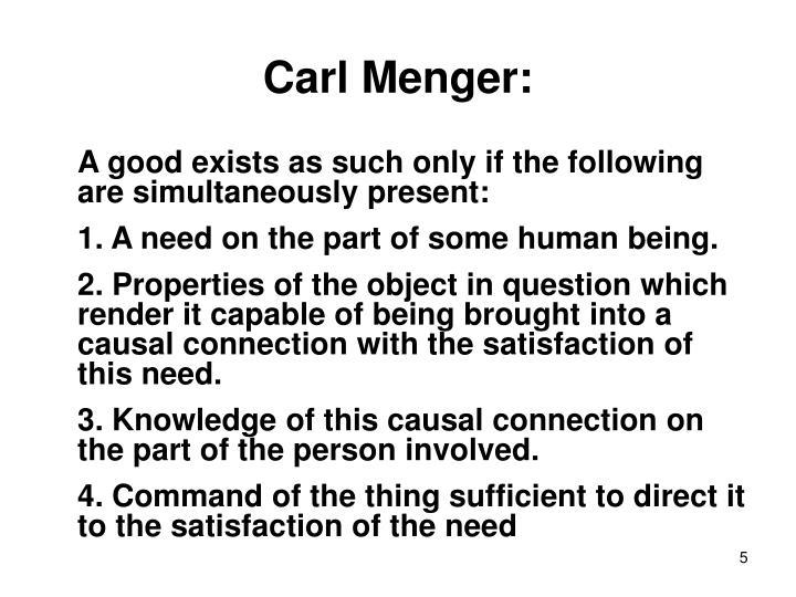 Carl Menger: