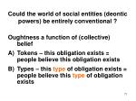could the world of social entities deontic powers be entirely conventional