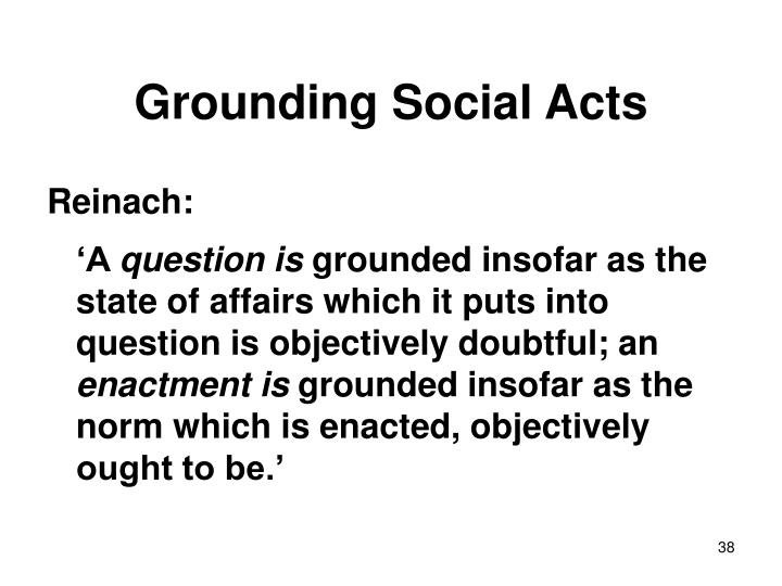 Grounding Social Acts