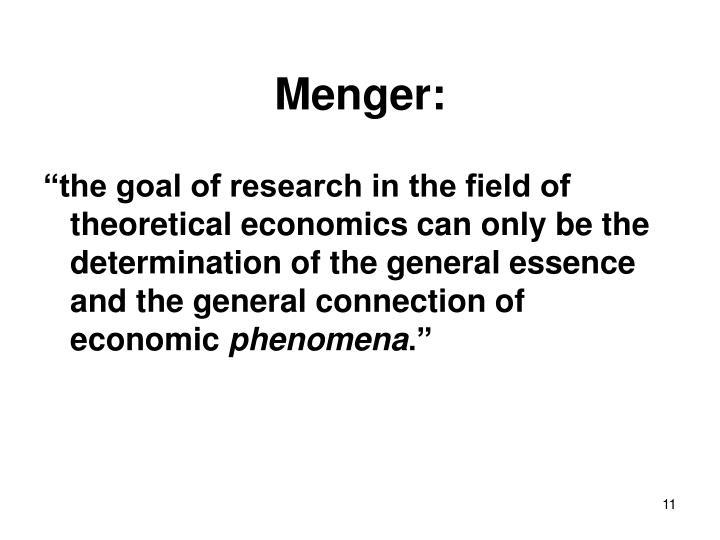 Menger: