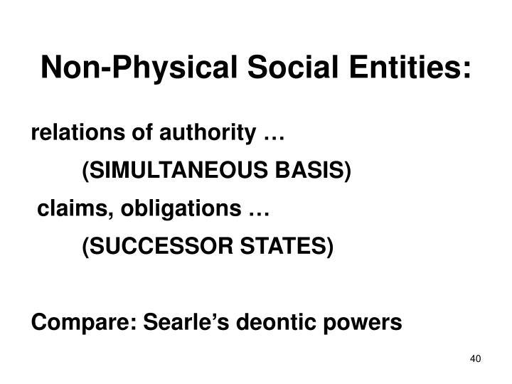 Non-Physical Social Entities: