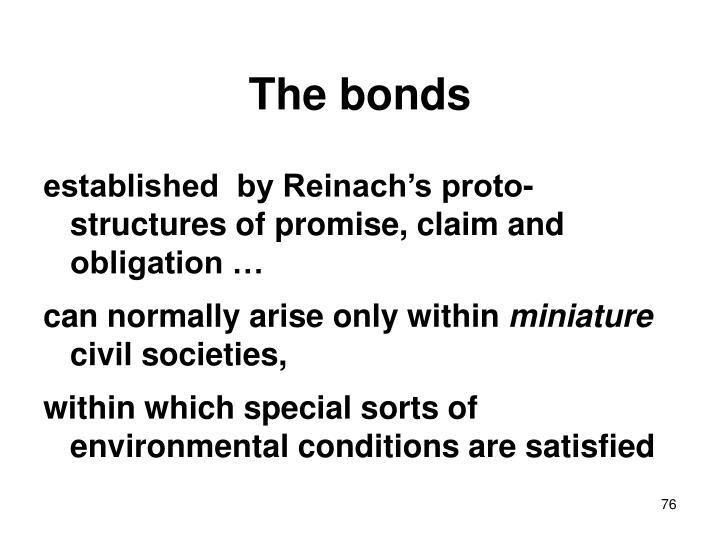 The bonds