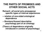 the parts of promises and other social acts2