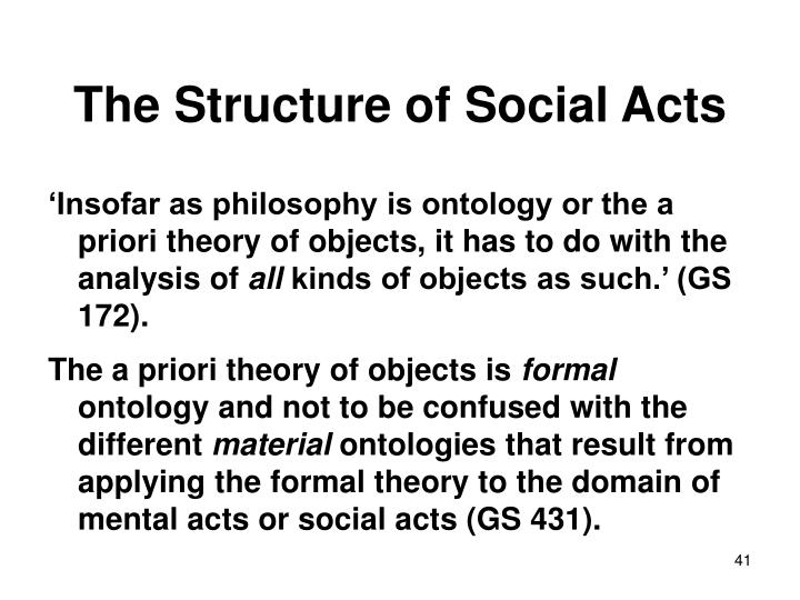 The Structure of Social Acts