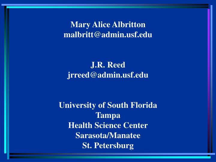 Mary Alice Albritton