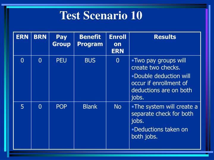 Test Scenario 10