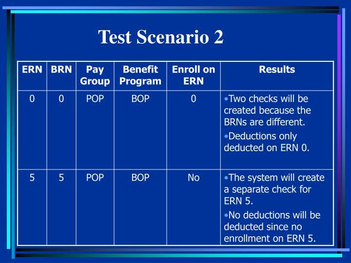 Test Scenario 2