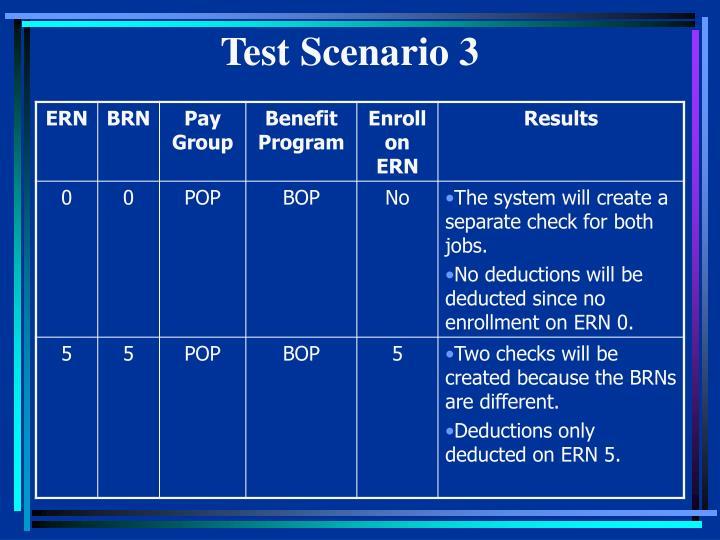 Test Scenario 3