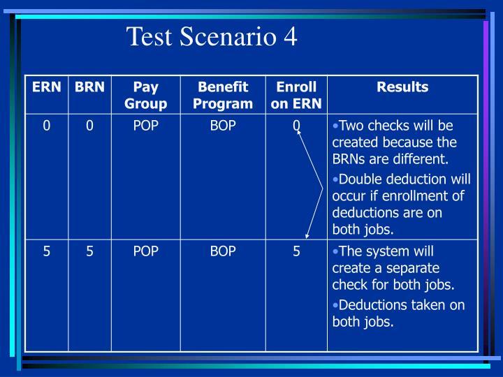 Test Scenario 4