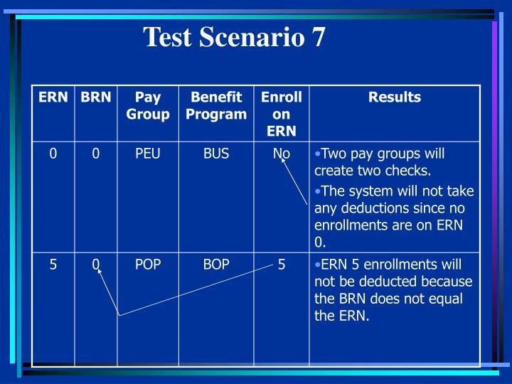 Test Scenario 7