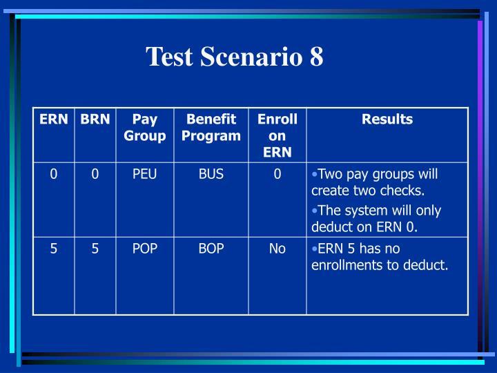 Test Scenario 8