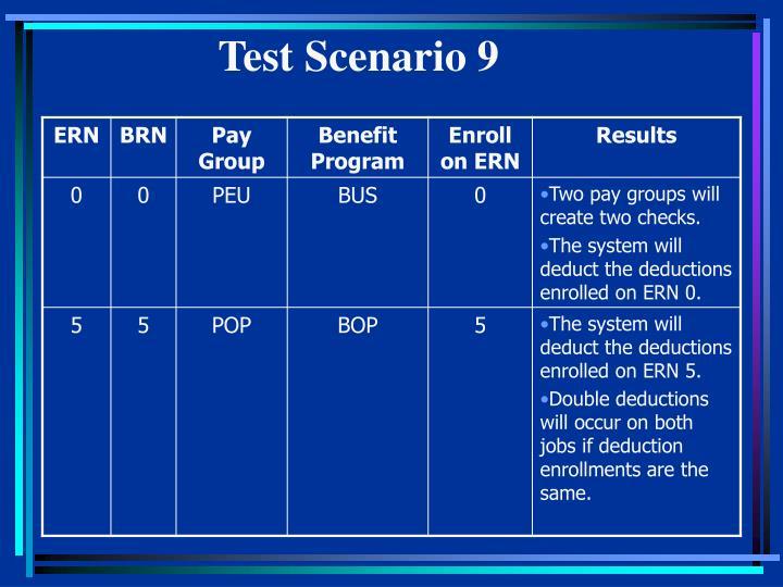 Test Scenario 9